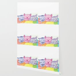 Rainbow kittens Wallpaper