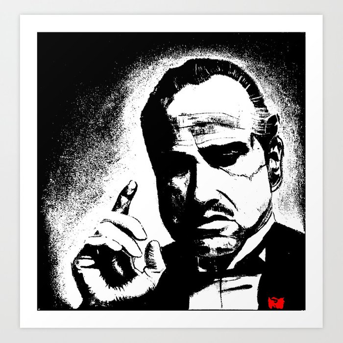 The Godfather Marlon Brando Art Print by christinekouri | Society6