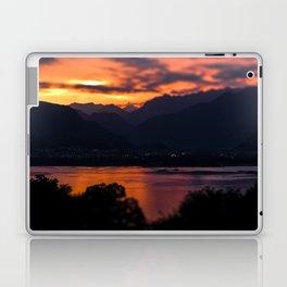 Locarno and Ascona at sunset Laptop & iPad Skin