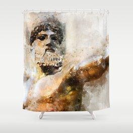 Zeus God of Thunder Greek Mythology - Jupiter Shower Curtain