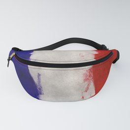 Grunge painting france flag Fanny Pack