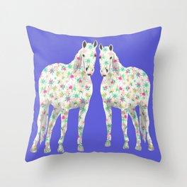 Sparkle Ponies Throw Pillow