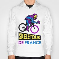 tour de france Hoodies featuring Skeletor Tour De France by Tabner's