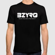 BZYRQ Logo (White on Black) LARGE Black Mens Fitted Tee