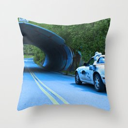 When this baby hits eighty-eight miles per hour... Throw Pillow