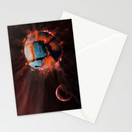 Exploding Planet Stationery Cards