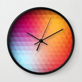 Retro  geometric shapes Wall Clock
