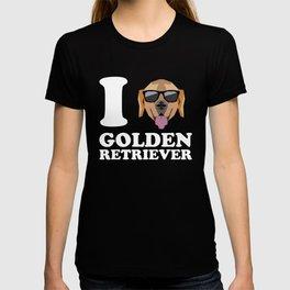 I Love Golden Retriever modern v2 T-shirt