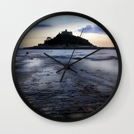 St Michael's Mount, Marazion, Cornwall, England, United Kingdom Wall Clock