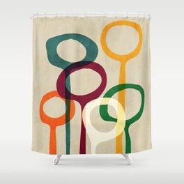 Blowing bubbles Shower Curtain