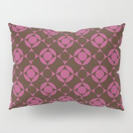 Polka Dots on Wavy Plaid Pattern Pillow Sham