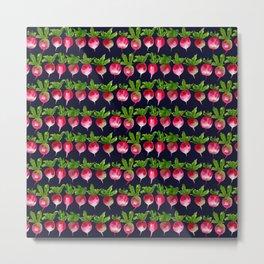 Watercolor radish seamless pattern Metal Print