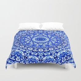 Blue Mandala Mehndi Style G403 Duvet Cover