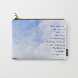 Serenity Prayer Blue Sky Gentle Clouds Carry-All Pouch