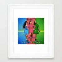 powerpuff girls Framed Art Prints featuring The PowerPuff Girls by Tyler Simien