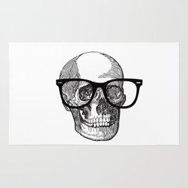 I die hipster - skull Rug