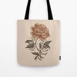 Peony and Ferns Tote Bag