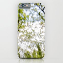 Watercolor trees photography iPhone Case