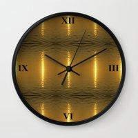 swedish Wall Clocks featuring Swedish Ripples by LesImagesdeJon