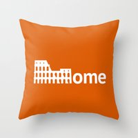 rome Throw Pillows featuring Rome by Flat Design