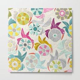 paper sunbirds pearl Metal Print