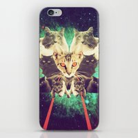 saga iPhone & iPod Skins featuring Galactic Cats Saga 1 by Carolina Nino