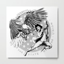 Eagle vs Patriot: The State of the Union 2018 Metal Print