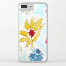 Blooming Colors Clear iPhone Case