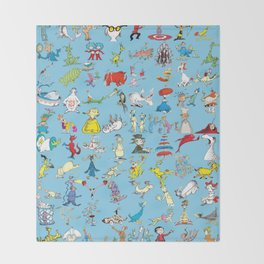 Dr. Seuss Characters Throw Blanket