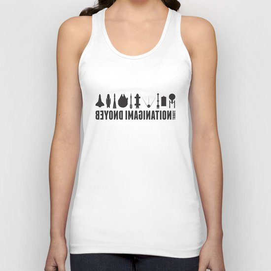Beyond imagination: Space Shuttle postage stamp Unisex Tank Top