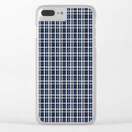 The checkered pattern . Clear iPhone Case