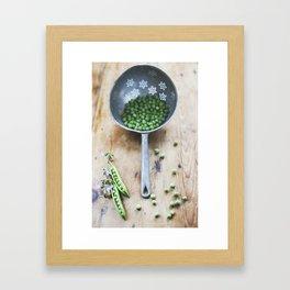 Vegetables and colander. Framed Art Print