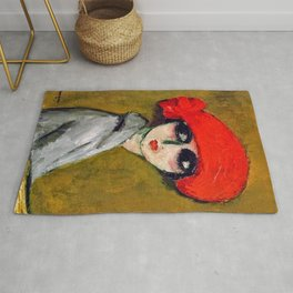 The Corn Poppy, Portrait of a Young Woman by Kees van Dongen Rug