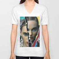 half life V-neck T-shirts featuring Half Life by Joel Lambeth