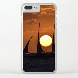 Pirate Sunset Clear iPhone Case