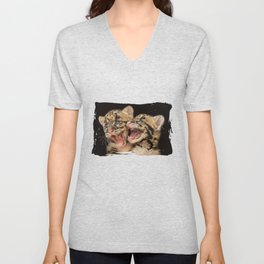 CLOUDED LEOPARD CUBS LOVE Unisex V-Neck