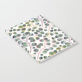 Simple Silver Dollar Eucalyptus Leaves Notebook