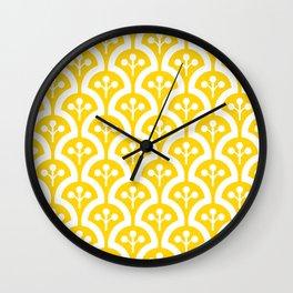 Atomic Mushroom Yellow Wall Clock