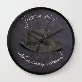 Hat For Leonard, Chalkboard Dreams Wall Clock