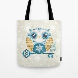 Winter Wonderland Owl Tote Bag