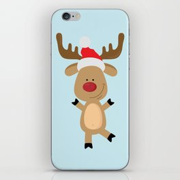 Dancing Rudolph Red Nosed Reindeer Merry Christmas iPhone Skin