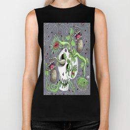 skull pot with carnivorous plants Biker Tank