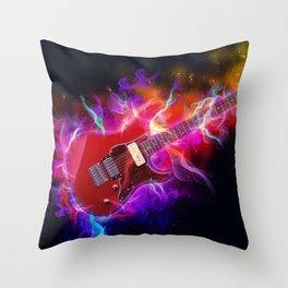 Electric Guitar Art Throw Pillow