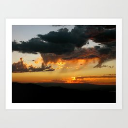 Black Canyon Sunset Art Print
