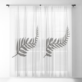 Silver Fern of New Zealand Sheer Curtain