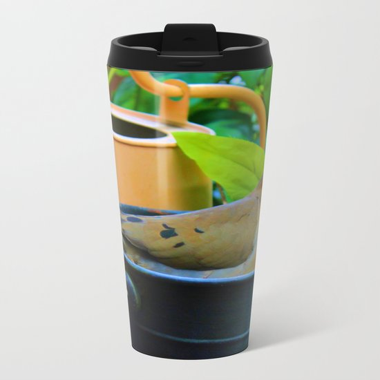 A Bird in a Bucket Metal Travel Mug
