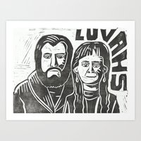 will ferrell Art Prints featuring Luvahs by Peter Dunne