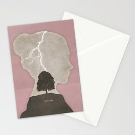 Charlotte Brontë Jane Eyre - Minimalist literary design Stationery Cards
