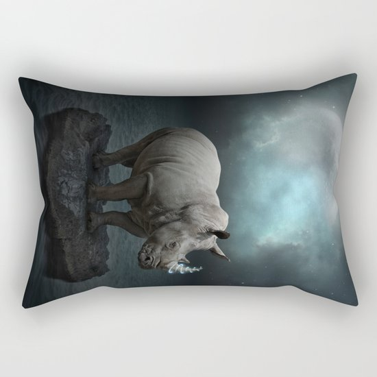 Power Is No Blessing In Itself v.1 (Protect the Rhino)  Rectangular Pillow