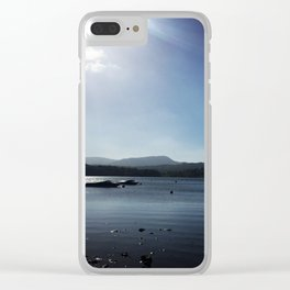 White Cross Bay 1 Clear iPhone Case